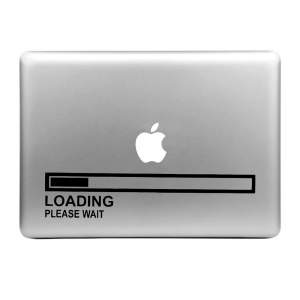 """HAT PRINCE Creative Decal Sticker for MacBook 13.3"""" 15.4"""" (Large Size) - Loading Bar"""