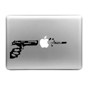 "HAT PRINCE Creative Decal Sticker for MacBook 13.3"" 15.4"" (Large Size) - Gunshot"
