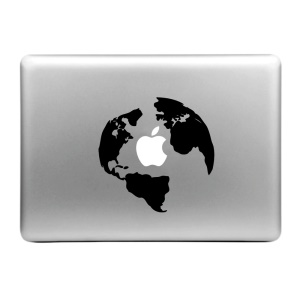 "HAT PRINCE Creative Decal Sticker for MacBook 13.3"" 15.4"" (Medium Size) - World Map"