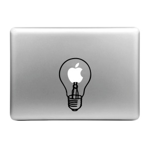 "HAT PRINCE Creative Decal Sticker for MacBook 11.6"" 12"" 13.3"" 15.4"" - Two Man in the Light Bulb"