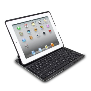 WITSPAD F4S Bluetooth Keyboard Smart Protective Case for iPad 2 3 4 w/ Colorful Backlight - Black