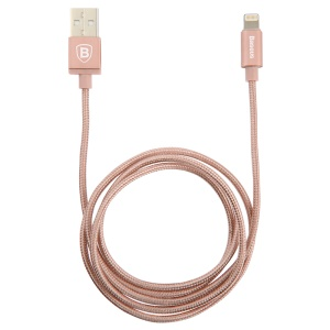 BASEUS MFI Lightning 8pin USB Data Sync Charging Cable Simple Version of AntiLa Series for iPhone iPad iPod - Gold