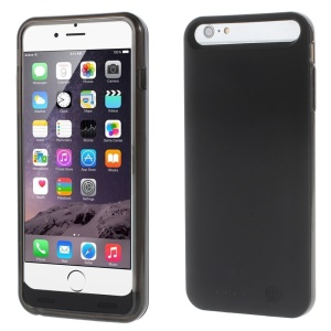 IFANS MFI Certified 4000mAh Battery Charger Case for iPhone 6s Plus / 6 Plus w/ Extra Bumper - Black