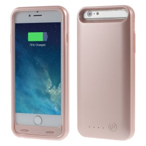 IFANS MFI Certified 4000mAh Battery Charger Case for iPhone 6s Plus / 6 Plus + Extra Bumper - Rose Gold
