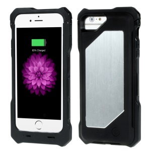IFANS MFI Certified 3500mAh Battery Charger Case for iPhone 6s 6 w/ Metal Plate - Black