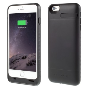 MFI Certified for iPhone 6 External Backup Battery Case 3200mAh with Extra Bumper - Black