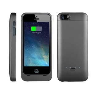 XCOMM MFI 2200mAh Backup Battery Charger Case for iPhone SE 5s 5 - Black