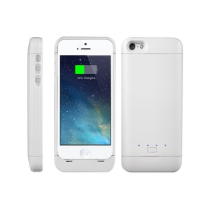 XCOMM MFI 2200mAh External Battery Pack Charger Case for iPhone SE 5s 5 - White