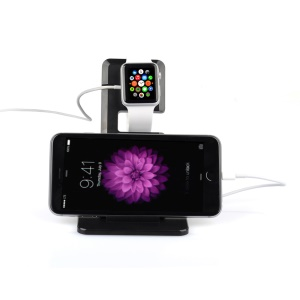 ITIAN A11 Multifunctional Charging Station Stand for Apple Watch iPhone iPad - Black