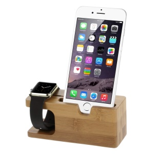 Wood Charging Holder Display Bracket for iPhone 6 / Apple Watch 38mm / 42 mm, etc