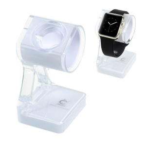 Two-color Plastic Magnetic Charging Stand Holder for Apple Watch - White