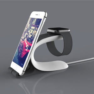 LOCA Mobius Charging Stand para Apple Watch iPhone iPad Mobile Phone Tablet - negro