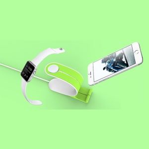 LOCA Mobius Charging Mount Holder for Apple Watch iPhone iPad Mobile Phone Tablet - Green
