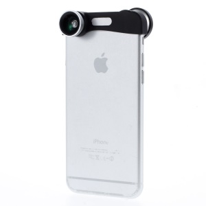 3 in 1 Fisheye + Wide Angle + Macro Camera Lens Kit for iPhone 6 4.7-inch - Silver
