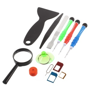 Pry Screwdriver Opening Repair Tools Kit with SIM Card Adapters for iPhone 6/6 Plus/5s/5/4s/4 Etc