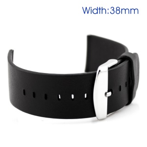 Classic Buckle Genuine Leather Watchband for Apple Watch Series 3 Series 2 Series 1 38mm - Black