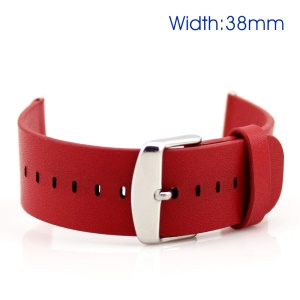 Classic Buckle Genuine Leather Watchband for Apple Watch Series 4 40mm/ Series 3/2/13 8mm - Red