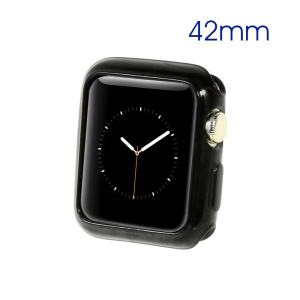TPU Protective Gel Case for Apple Watch 42mm - Black