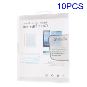 10Pcs/lot Plastic Package Box for iPad Air / Air 2 Size: 24.5 x 19 x 1.5cm