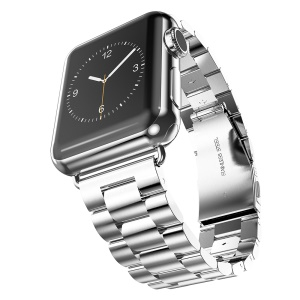 HOCO High-end Stainless Steel Watchband Wristband for Apple Watch 42mm Series 1 Series 2 (3 pointers) - Silver