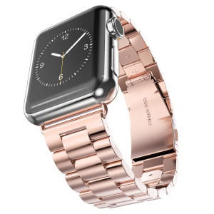 HOCO High-end Stainless Steel Watchband Wristband for Apple Watch Series 1 Series 2 38mm (3 pointers) - Rose Gold