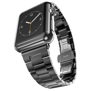 HOCO for Apple Watch 42mm Series 2 Series 1 Stainless Steel Watchband Wrist Band with Axle Connectors - Dark Grey
