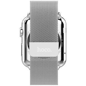 HOCO Milanese Stainless Steel Watchband for Apple Watch Series 1 Series 2 38mm - Silver