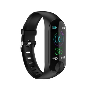 Y10 Bluetooth 4.0 Smart Fitness Tracker Heart Pressure Rate Monitor Bracelet - Black