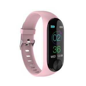 Y10 Bluetooth 4.0 Smart Fitness Tracker Heart Pressure Rate Monitor Bracelet - Pink