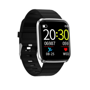 Smart Wristband Heart Rate Monitor Water-resistant Smart Bracelet with 1.3-Inch Screen - Silver