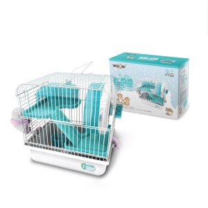 Three Layers Cage Haven House for Hamster Pet - Cyan