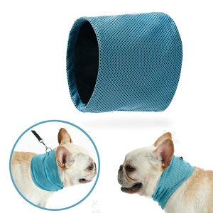 Instant Cooling Pet Bandana Dog Scarf Bulldog Summer Cooling Towel Wrap Dog Collar, Size: S