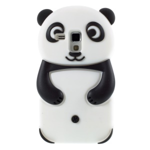 Cute 3D Panda Silicone Cover for Samsung Galaxy S Duos S7562 / Trend S7560 - Black