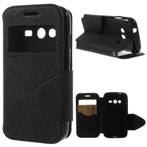 Roar Korea Diary View Leather Stand Case for Samsung Galaxy Ace NXT G313H / Ace 4 LTE G313F - Black