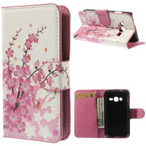 Plum Blossom Wallet Stand Leather Skin Shell for Samsung Galaxy Ace NXT G313H