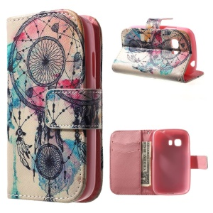 Folio Leather Wallet Case for Samsung Galaxy Young 2 SM-G130 - Dream Catcher