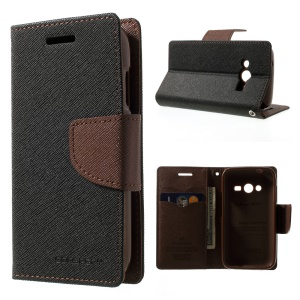 Mercury GOOSPERY Fancy Diary Leather Stand Case for Samsung Galaxy Ace NXT G313H / Ace 4 LTE SM-G313F - Brown / Black