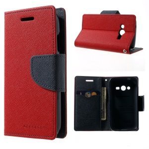 Mercury GOOSPERY Fancy Diary Leather Stand Case for Samsung Galaxy Ace NXT G313H - Red