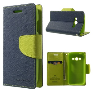 Mercury GOOSPERY for Samsung Galaxy Ace NXT G313H Fancy Diary Leather Stand Shell - Dark Blue