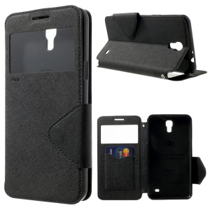 ROAR KOREA Diary View Leather Stand Case for Samsung Galaxy Mega 2 G750F G7508 - Black