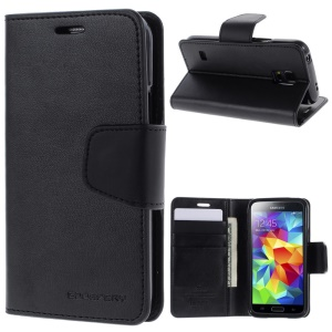 Mercury GOOSPERY Sonata Diary Wallet Leather Stand Case for Samsung Galaxy S5 mini G800 - Black