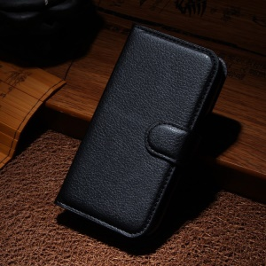 Litchi Leather Wallet Case for Samsung Galaxy Ace Style LTE G357FZ / Ace 4 G357FZ - Black