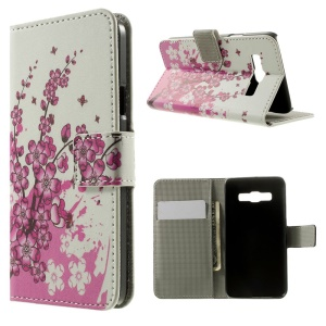 Plum Blossom Stand Leather Magnetic Case for Samsung Galaxy A3 SM-A300F