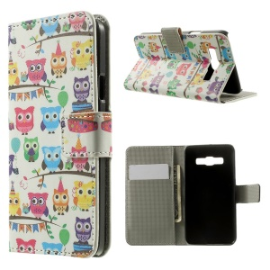 Multiple Owls Wallet Leather Stand Cover Case for Samsung Galaxy A3 SM-A300F