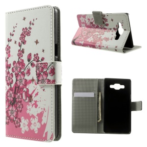 Plum Blossom Flip Leather Wallet Stand Case for Samsung Galaxy A5 SM-A500F