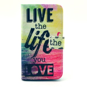 Live the Life You Love Quote Leather Stand Cover for Samsung Galaxy Core 2 G355H