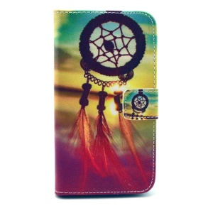 Dream Catcher Leather Flip Cover w/ Stand for Samsung Galaxy Core 2 G355H