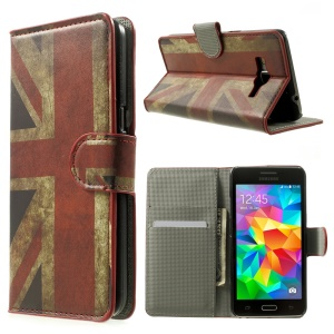 UK Flag Wallet Leather Case for Samsung Grand Prime SM-530H w/ Stand
