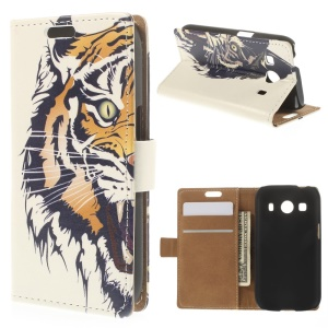 Fierce Tiger for Samsung Galaxy Ace Style LTE G357FZ / Ace 4 G357FZ Leather Wallet Stand Cover