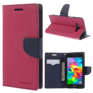 MERCURY Goospery Fancy Diary for Samsung Galaxy Grand Prime SM-G530H PU Leather Stand Cover - Rose